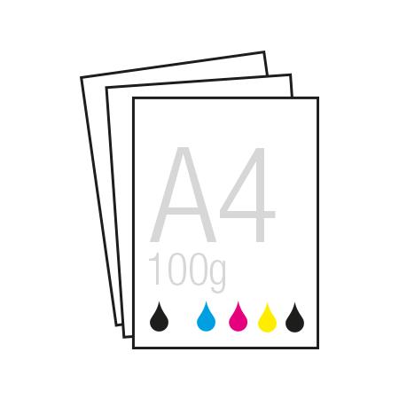 Einseitige Farbausdrucke in DIN A4 auf verschiednene Papierstärken KKS